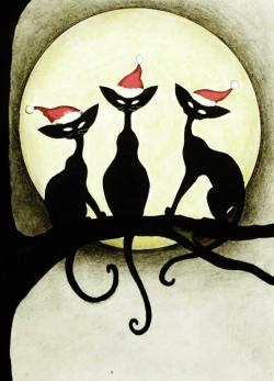 julkort tre katter (2)